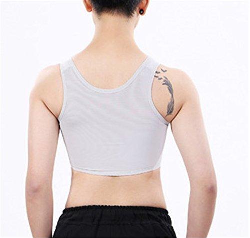 Grigio Traspirante Elastico Petto Fibbia Centrale Tops Per Lesbiche Bra Sport Baron Tomboy Hong Vest Y0q5Ew