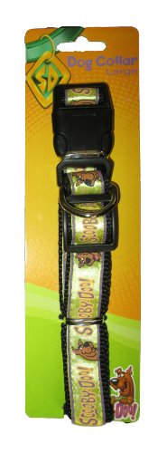 Scooby Doo Large Adjustable Yellow Collar with Clip & Ring