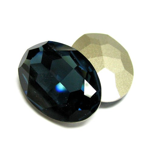 1 pc Swarovski Crystal 4127 Oval Cabochon Stone Bead Montana Foiled 30mm X 22mm / Findings / Crystallized Element