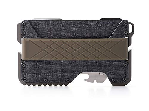 Dango T01 Tactical EDC Wallet - Made in USA - Genuine Leather, Multitool, RFID Block (Spec Ops - Black/Olive Drab Green + MT02 Multi-Tool)