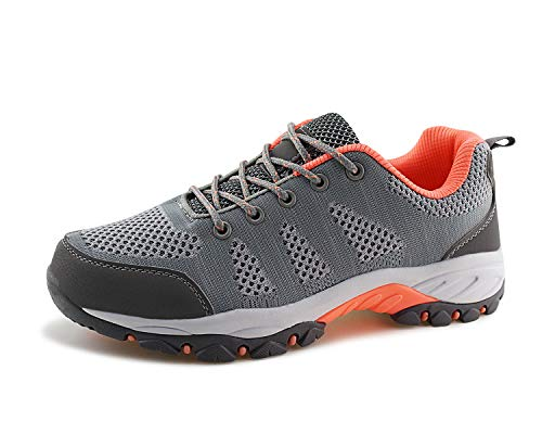 1ad6e95bc765f Jabasic Women Hiking Shoes Breathable Mesh Athletic Outdoor Sneakers  (Lt.Grey Pink
