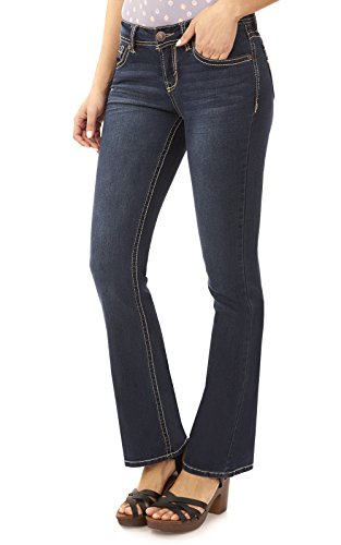 Womens Bootcut Blue Jeans - 9