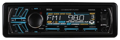 BOSS AUDIO 650UA Single-DIN CD/MP3 Player Receiver, Detachable Front Panel, Wireless Remote (2002 Chevy Impala Cd Player)