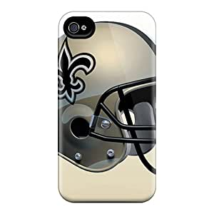 Awesome New Orleans Saints Flip Case With Fashion Design For Iphone 4/4s