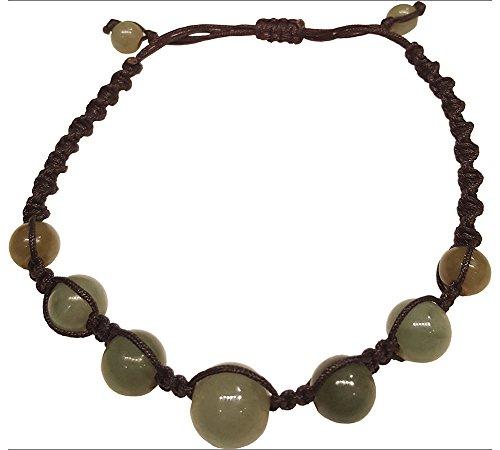 Infinity Green Jade Bead Bracelets Feng Shui for Men,Women ()