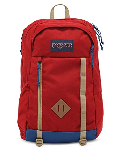 Jansport Fox Hole Pack Red Tape - Fox Side Zip Backpack