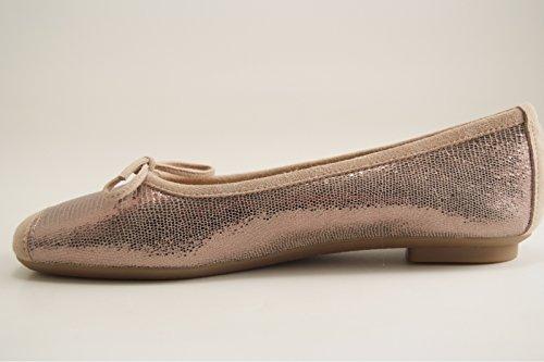 Reqins - Zapatos de vestir para mujer latón