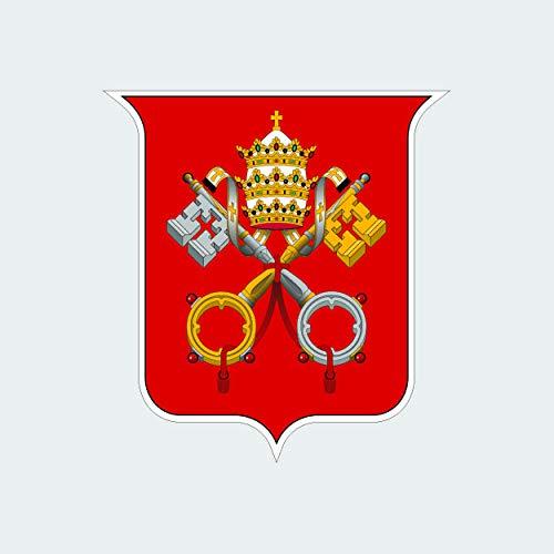 fagraphix Vatican City Coat of Arms Sticker Self Adhesive Vinyl Decal Flag
