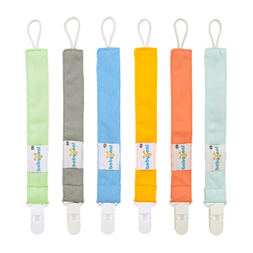 - Babygoal Pacifier Clips for Boys, 6 Pack Pacifier Holder Fits Most Pacifier Styles & Baby Teething Toys and Baby Shower Gift 6PS10