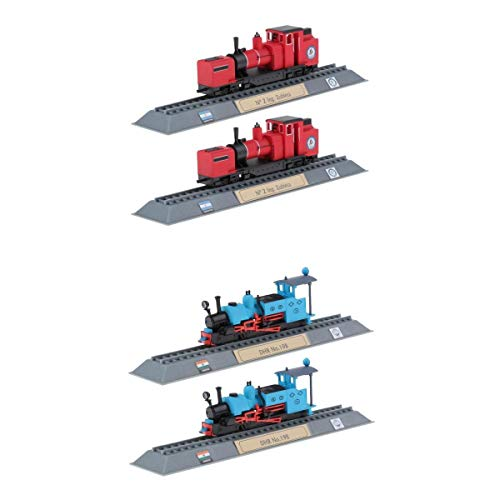 Fenteer 4個 プラスチック 機関車モデル 列車モデル 模型おもちゃ アートクラフト