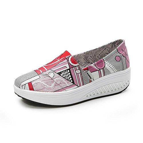 Sneakers Shake Autunno Da Mocassini Athletic Loafers Scarpe Donna Printing Un Shoes Slip on Di Flat Guida Shaking Xue E Fitness Tela Platform Primavera Casual 0nOUqY5w15