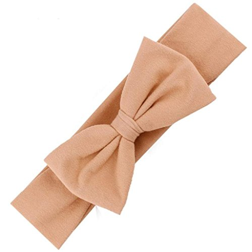 Headband,Laimeng, Hair Accessories Baby Hair Soft Mesh Bowknot Hair Band (Khaki)