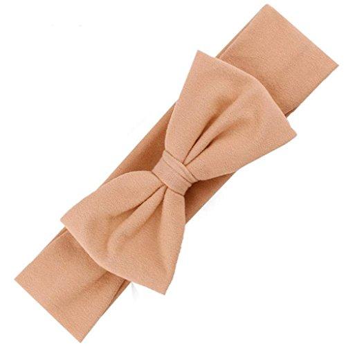 Headband,Laimeng, Hair Accessories Baby Hair Soft Mesh Bowknot Hair Band (Khaki)