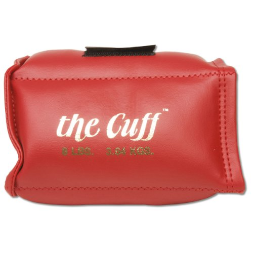 the Cuff: The Original Cuff Ankle and Wrist Weight, 8 lb, (Red Ankle Cuff)