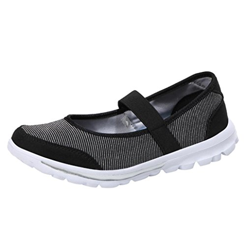 Cinnamou Zapatos Zapatillas Respirable Mocasines Deportes Mujer Sneaker Malla Plataforma Sandalias Casual Verano Negro