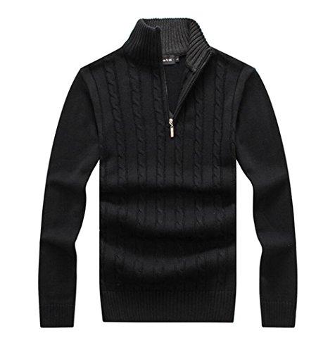 Zip Mock Turtleneck Sweater - 9