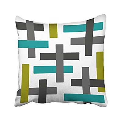 Pakaku Throw Pillows Covers for Couch/Bed 18 x 18 inch,Aqua Chartreuse and Grey Abstract Art Home Sofa Cushion Cover Pillowcase Gift Decorative Hidden Zipper Design Cotton and Polyester - Size: 18 x 18 inch, 45cm x 45cm Hidden zipper closure.Double-sided pattern Cushion Cover ONLY, Insert SOLD SEPARATELY. - patio, outdoor-throw-pillows, outdoor-decor - 41ZnD%2BJ TwL. SS400  -