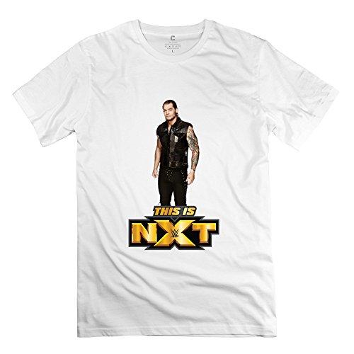 JRZJ Men's Baron Corbin NXT Tshirts Size XS White