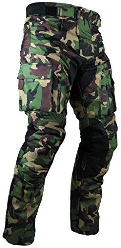 HEYBERRY Sportliche Motorrad Hose Motorradhose Camouflage Grün Gr. L