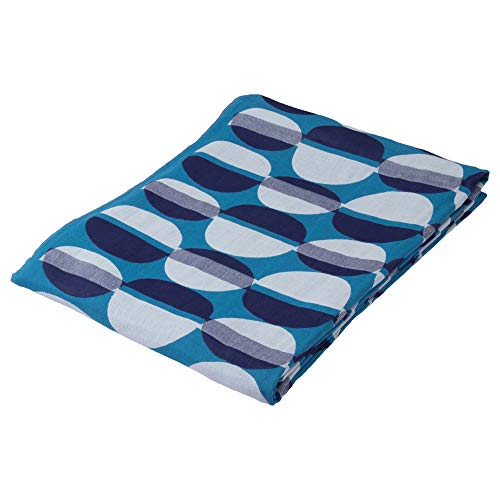 토 오 쿄 니 시카와가 제 모 포 블루 싱글 スカンジナビアン 패턴 컬렉션 カフェベ?ナ RR09501025B / Tokyo Nishikawa Gauzeket Blue Single Scandinavian Pattern Collection Cafe Bena RR09501025B