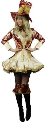 Donna: 34-36 Yummy Bee Mad Hatter Cappellaio Matto Alice in Wonderland Costume Taglia Forte 34-48 Deluxe