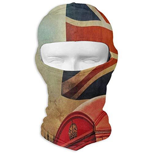 (London City UK Flag Big Ben Retro Full Face Masks UV Balaclava Hood Ski Headcover Motorcycle Neck Warmer Tactical Hood for Cycling Outdoor Sports)