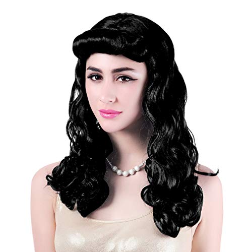 40's Housewife Wigs for Women - Long Curly Women's Pin up Costume ()
