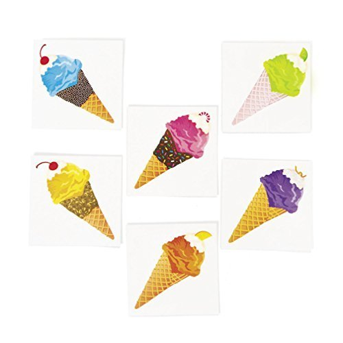 Fun Express Ice Cream Temporary Tattoos