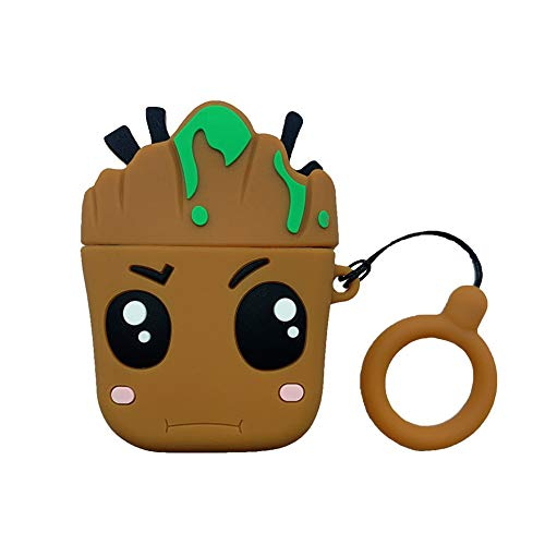 SGPCN Compatible with Airpods 1st/2nd Case, New 3D Cute Fun Cartoon Character Airpod Cover, Plant Animal Funny Fashion Design Skin,[Designed for Teens Girls Boys Air pods] (Tree Man Baby)