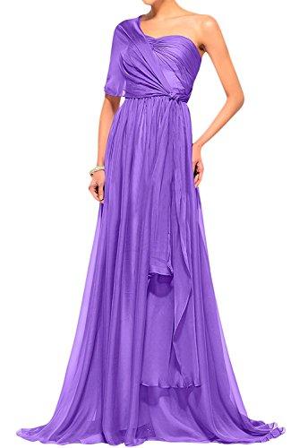 Abendkleider La Braut mia Blau Navy Violett Abschlussballkleider Ballkleider Festlichkleider Cocktailkleider Chiffon Langes Damen U06gUq