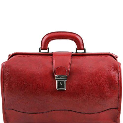 Tuscany Leather Raffaello - Bolso de doctor en piel Miel Bolsos de médico Rojo