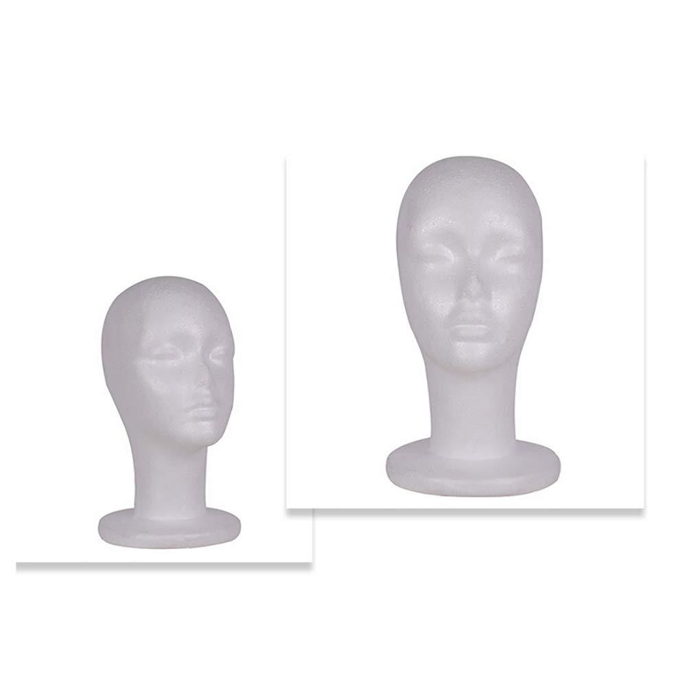 ywbtuechars Styrofoam Mannequin Head Model Sunglasses Eyeglass Stand Hat Cap Display Holder Mannequin Head Foam Head 1