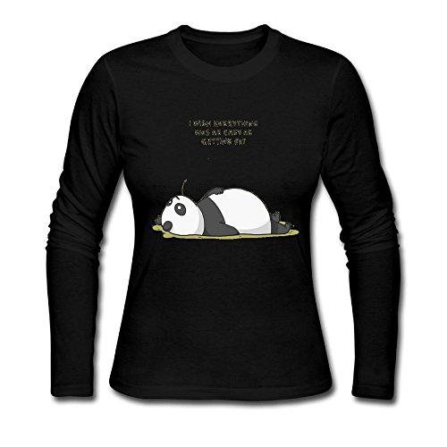 bosenjiaju Women's Shirts Panda Funny T - Package First Tracking Ups Class