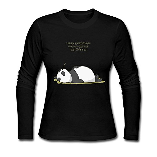 bosenjiaju Women's Shirts Panda Funny T Shirt (Care Package Delivery Nyc)