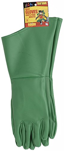 [Rubie's Costume Co Men's Teen Titans Robin Adult Gloves, Green, One Size] (Teen Titan Robin Costumes)