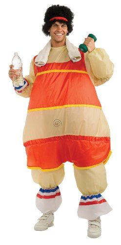 Rubie's Costume Inflatable 80's Workout Guy Costume, Orange/Beige, Standard