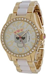 Betsey Johnson Women's BJ00246-05 Analog Skull and Crown Graphic Dial Watch