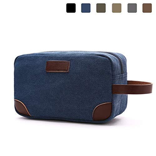 Travel Bag,Lanivas Classic Carrying Case Vacation Shaving Bag with Compartments Blue