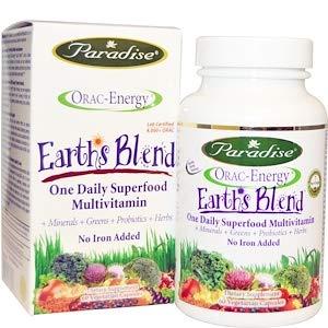 Paradise Herbs Orac Energy Multi One Vegetarian Capsules No Iron, 60 Count