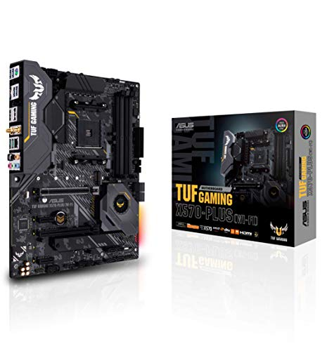 ASUS AM4 TUF Gaming X570-Plus (Wi-Fi) ATX Motherboard with PCIe 4.0, Dual M.2, 12+2 with Dr. MOS Power Stage, HDMI, DP, SATA 6Gb/s, USB 3.2 Gen 2 and Aura Sync RGB Lighting