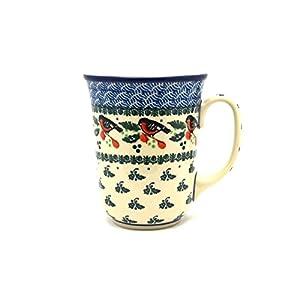 Polish Pottery Bistro Mug – 16 Oz – Red Robin
