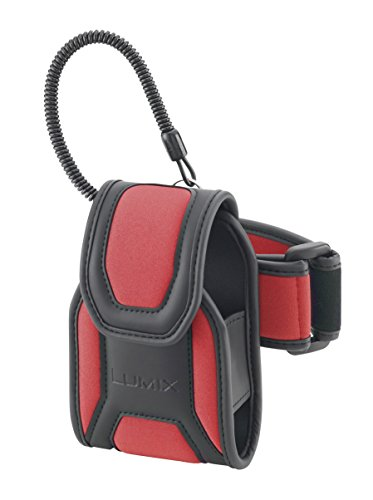 Price comparison product image Panasonic DMW-CFT2 Sports / Arm Band Soft Carry Case for Lumix DMC-FT3 Digital Camera - Red Color