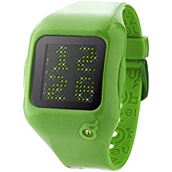 ZERONE Dazzled Animation Green Crystal with Green Case Scrolling Message Watch