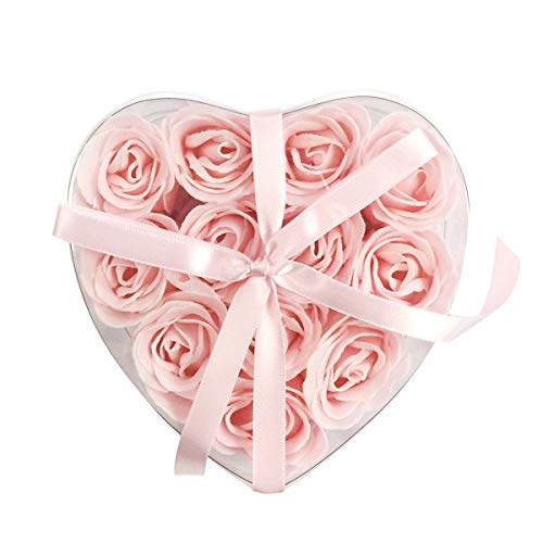 (Scented Rose Soaps (Set of 12) - Pink )