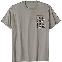 Bushido Pocket T-Shirt With Seven Virtues Calligraphy