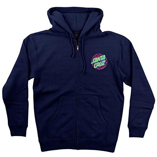Santa Cruz Mens Party Dot Hoody Zip Sweatshirt Medium Navy (Santa Hoodie)