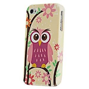 Joyland flor búho patrón TPU nuevo caso para el iPhone 4/4S