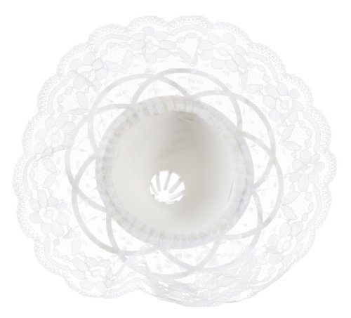 Darice 35020-1 8-Inch Lace Collar Bouquet Holder, 9-Inch, White (Lace Wedding Bouquet)