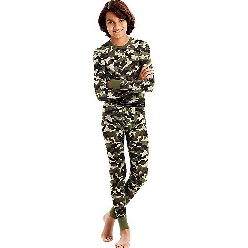 Hanes X-Temp Boys' Organic Cotton Thermal Set_Camo_M
