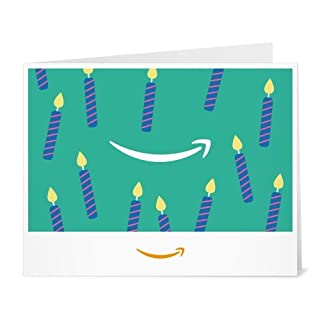 Amazon Gift Card - Print - Birthday Teal Candles (B01LYB3RMZ) | Amazon price tracker / tracking, Amazon price history charts, Amazon price watches, Amazon price drop alerts